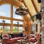 The great room with rustic accents in the Wilson home.
