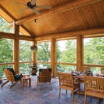 The Zientek's screen porch has a dining table, sitting area and a hammock that overlook Oxbow Lake