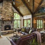 Woodsy Log Home Great Room