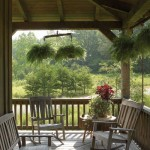 The side porch makes the perfect spot for relaxing.