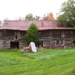 The new cabin will be relocated to Justice Plantation in Pittsboro, N.C., about an hour east of Lexington. This old barn, located on the property, will be deconstructed and turned into rustic reclaimed furniture.
