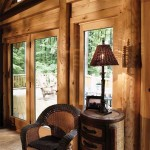 Katahdin Cedar Log Homes' exterior wall envelope system increases energy efficiency and makes the cabin comfortable year round.