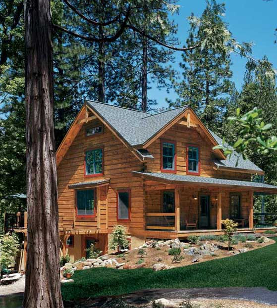 Treasure of the sierra nevada log cabin in the california for Log cabin builders in california