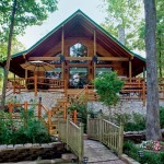 Custom Crafted Lakefront Cabin Deck