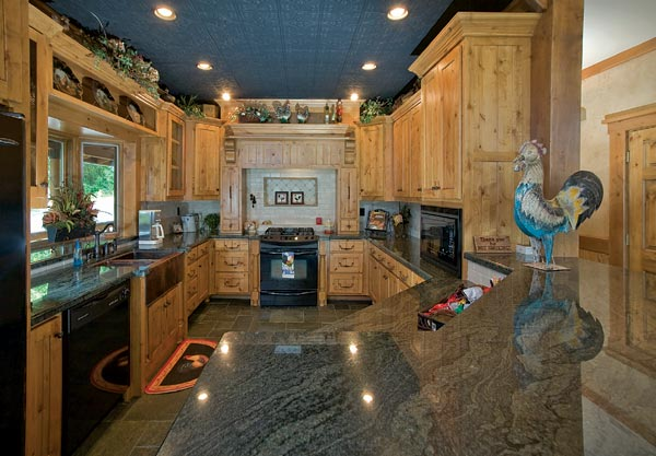Custom Crafted Lakefront Cabin Kitchen