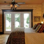 Lakeside Log Cabin Master Bedroom