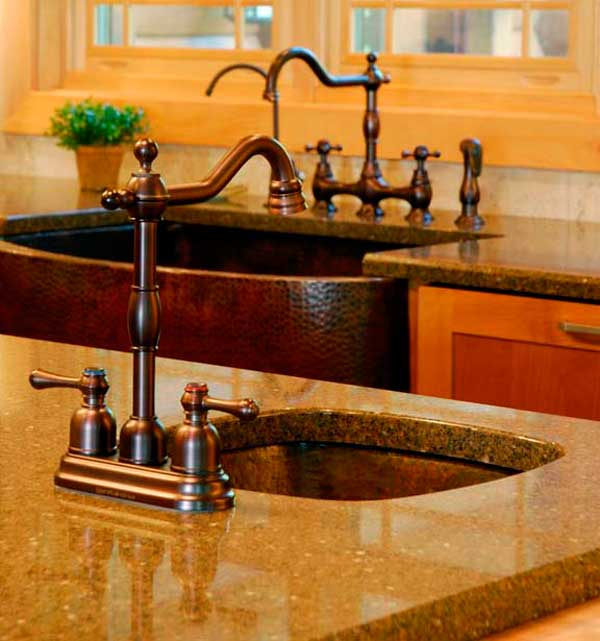Alpine copper dual sink