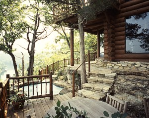 Rocky Mountain Log Homes Stone Patio