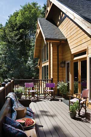 Log-Home Deck