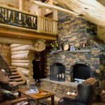 Handcrafted Log Home Great Room photo 9
