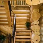 Handcrafted Log Stairway