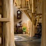 Handcrafted Log Foyer