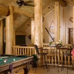 Log Rec Room and Pool Table