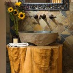 Log Wash Basin and Sink