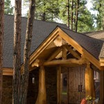 Handcrafted Log Home Entrance photo 5