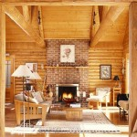 Interior of a Hybrid Log Home