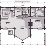 Handcrafted UT Log Cabin Main Level Plan