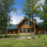 The Pennsylvania log home features a 5,900-square-foot footprint plus 1,200 square feet of deck space.