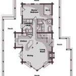 Idaho Log Home Main Level Floor Plan