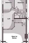 Idaho Log Home Upper Level Plan