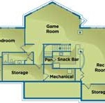 Iowa Energy-Efficient Home Lower Level Floor Plan