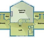 Iowa Energy-Efficient Home Upper Level Plan