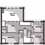 Tennessee Mountain Cabin Upper Level Plan
