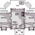 Montana Reclaimed Log Cabin Main Level Plan