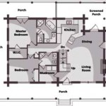 Tranquil North Carolina Cabin Main Level Plan