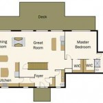 Tennessee Vacation Log Home Main Level Plan