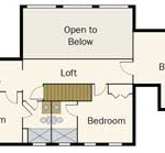 Tennessee Vacation Log Home Upper Level Plan