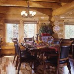 """Pam decorated the home with Ashley Furniture's Millennium collection because """"it just seemed like it went with all the elements of the home,"""" she says. """"For the dining room furniture, we liked the mixture of the leather and wood."""""""