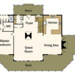 Wisconsin Log Home Main Floor Plan