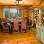 Montana log home dining room