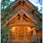 Montana log home door