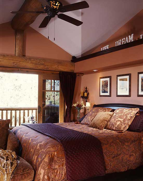 Home at last sweat equity pays dividends for Log home master bedrooms