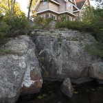 The home is built upon a high-end insulated concrete form that was formed to the granite rock below and pinned to the rebar to create an energy-efficient foundation. The rocks were sealed to prevent moisture from seeping into the lower-level crawl space and basement areas.