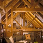 Maryland Log Home Loft