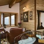 Washingon Lake Log Home Bedroom