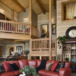 Washingon Lake Log Home Great Room