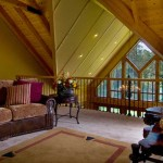 The loft overlooking the great room is a plush and quiet retreat away from the din of family time.