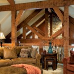 The loft offers the ideal spot to sneak away for a little rest and relaxation. Custom-built railings, timber-frame trusses and soft furnishings create a unique retreat.