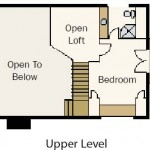 Hybrid Vacation Cabin Upper Level Plan