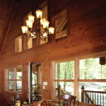 Hybrid vacation cabin dining room
