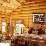 Smoky Mountain log home bedroom