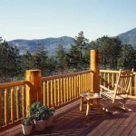 Smoky Mountain log home deck