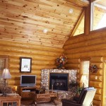 Smoky Mountain log home great room
