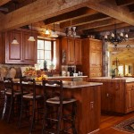 Butcher-block sits atop an island in the kitchen, which sits alongside the great room to make family time and entertaining more convenient.
