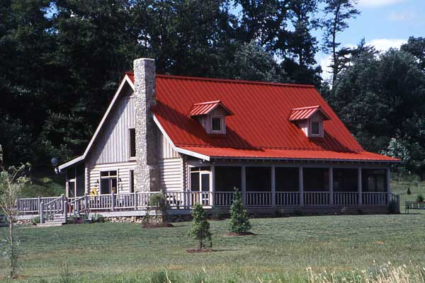 Family affair virginia vacation log retreat for Farmhouse metal roof