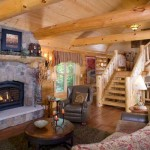 """The great room, featuring a cultured-stone gas fireplace and a piece of 100-year-old wood as a mantel, is the central focus of the home. """"You can't help but use this space,"""" says Lou. """"It just sort of is the center of the room ... It all flows together that way."""""""